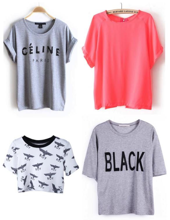 Tshirts selection